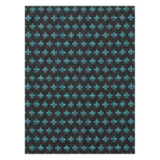 ROYAL1 BLACK MARBLE & BLUE-GREEN WATER (R) TABLECLOTH