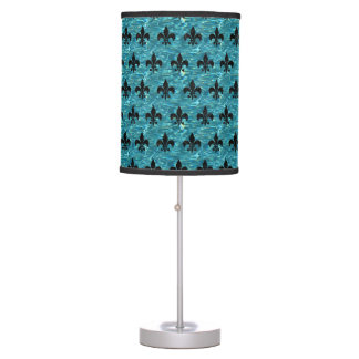 ROYAL1 BLACK MARBLE & BLUE-GREEN WATER TABLE LAMP
