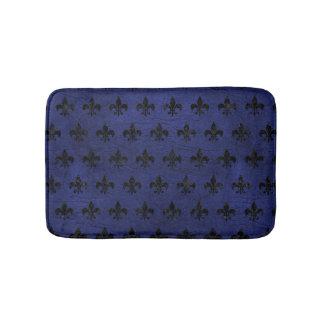 ROYAL1 BLACK MARBLE & BLUE LEATHER BATH MAT