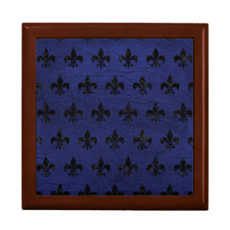 ROYAL1 BLACK MARBLE & BLUE LEATHER GIFT BOX