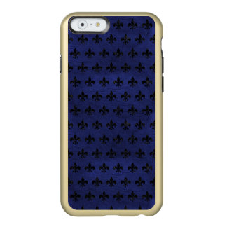 ROYAL1 BLACK MARBLE & BLUE LEATHER INCIPIO FEATHER® SHINE iPhone 6 CASE