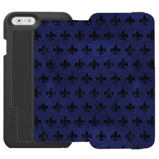 ROYAL1 BLACK MARBLE & BLUE LEATHER INCIPIO WATSON™ iPhone 6 WALLET CASE