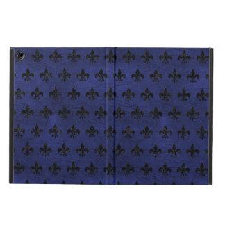 ROYAL1 BLACK MARBLE & BLUE LEATHER iPad AIR CASE