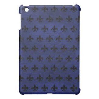 ROYAL1 BLACK MARBLE & BLUE LEATHER iPad MINI CASES