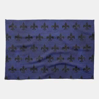 ROYAL1 BLACK MARBLE & BLUE LEATHER KITCHEN TOWEL