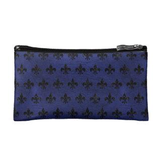 ROYAL1 BLACK MARBLE & BLUE LEATHER MAKEUP BAG
