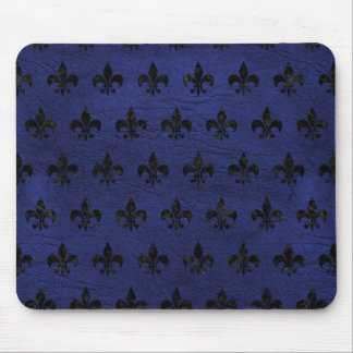 ROYAL1 BLACK MARBLE & BLUE LEATHER MOUSE PAD