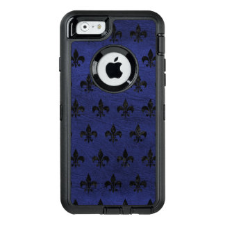 ROYAL1 BLACK MARBLE & BLUE LEATHER OtterBox iPhone 6/6S CASE