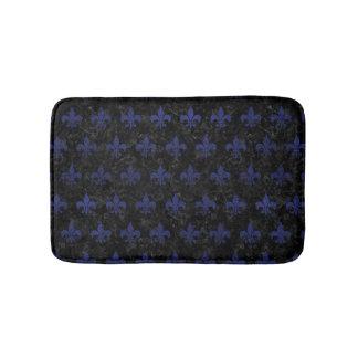 ROYAL1 BLACK MARBLE & BLUE LEATHER (R) BATH MAT