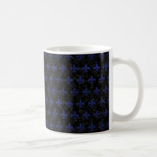 ROYAL1 BLACK MARBLE & BLUE LEATHER (R) COFFEE MUG