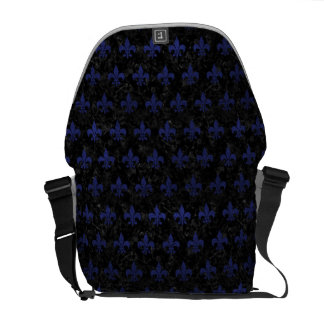 ROYAL1 BLACK MARBLE & BLUE LEATHER (R) COURIER BAG