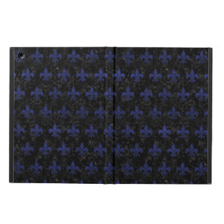 ROYAL1 BLACK MARBLE & BLUE LEATHER (R) COVER FOR iPad AIR