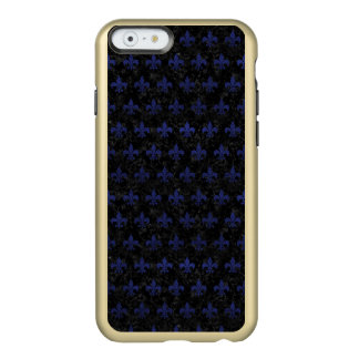 ROYAL1 BLACK MARBLE & BLUE LEATHER (R) INCIPIO FEATHER® SHINE iPhone 6 CASE