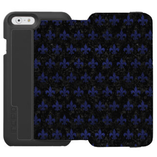 ROYAL1 BLACK MARBLE & BLUE LEATHER (R) INCIPIO WATSON™ iPhone 6 WALLET CASE