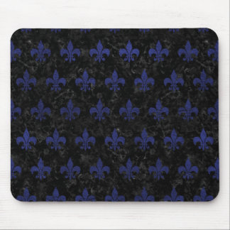 ROYAL1 BLACK MARBLE & BLUE LEATHER (R) MOUSE PAD