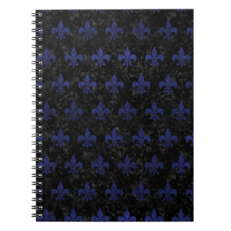 ROYAL1 BLACK MARBLE & BLUE LEATHER (R) NOTEBOOK