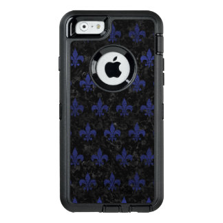 ROYAL1 BLACK MARBLE & BLUE LEATHER (R) OtterBox DEFENDER iPhone CASE