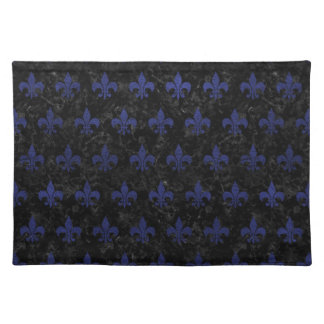 ROYAL1 BLACK MARBLE & BLUE LEATHER (R) PLACEMAT