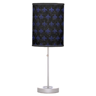 ROYAL1 BLACK MARBLE & BLUE LEATHER (R) TABLE LAMP
