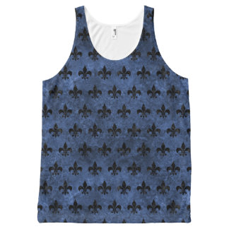 ROYAL1 BLACK MARBLE & BLUE STONE All-Over-Print TANK TOP
