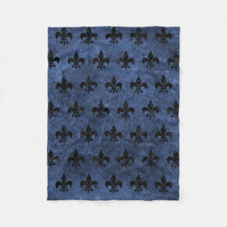 ROYAL1 BLACK MARBLE & BLUE STONE FLEECE BLANKET
