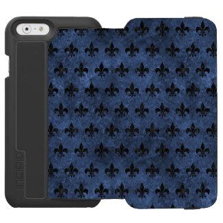ROYAL1 BLACK MARBLE & BLUE STONE INCIPIO WATSON™ iPhone 6 WALLET CASE