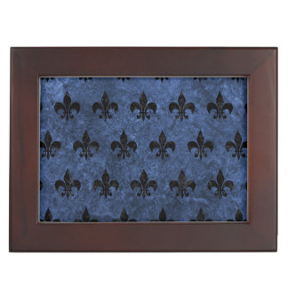 ROYAL1 BLACK MARBLE & BLUE STONE KEEPSAKE BOX