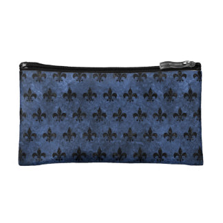 ROYAL1 BLACK MARBLE & BLUE STONE MAKEUP BAGS