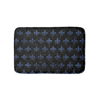 ROYAL1 BLACK MARBLE & BLUE STONE (R) BATH MAT