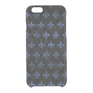 ROYAL1 BLACK MARBLE & BLUE STONE (R) CLEAR iPhone 6/6S CASE