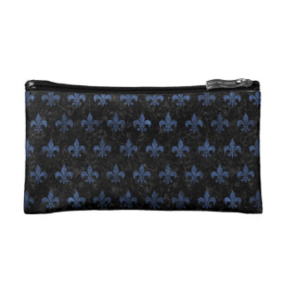 ROYAL1 BLACK MARBLE & BLUE STONE (R) COSMETIC BAGS