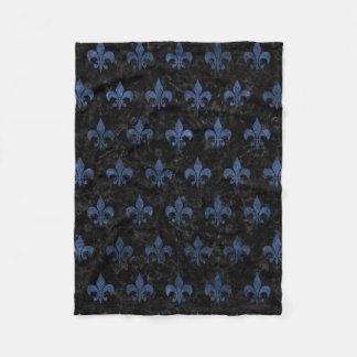 ROYAL1 BLACK MARBLE & BLUE STONE (R) FLEECE BLANKET