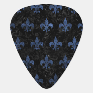 ROYAL1 BLACK MARBLE & BLUE STONE (R) GUITAR PICK