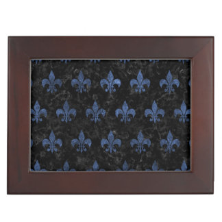 ROYAL1 BLACK MARBLE & BLUE STONE (R) KEEPSAKE BOX