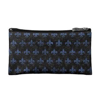 ROYAL1 BLACK MARBLE & BLUE STONE (R) MAKEUP BAG