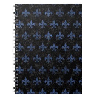 ROYAL1 BLACK MARBLE & BLUE STONE (R) NOTEBOOK