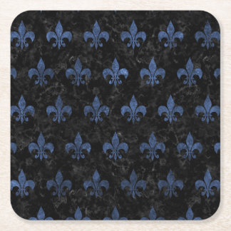 ROYAL1 BLACK MARBLE & BLUE STONE (R) SQUARE PAPER COASTER