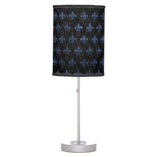 ROYAL1 BLACK MARBLE & BLUE STONE (R) TABLE LAMP