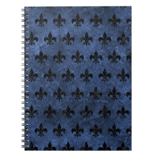 ROYAL1 BLACK MARBLE & BLUE STONE SPIRAL NOTEBOOK