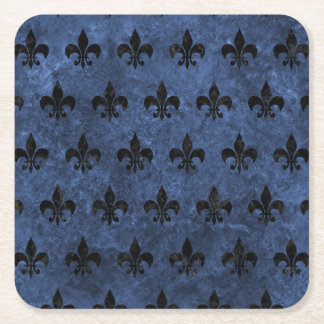 ROYAL1 BLACK MARBLE & BLUE STONE SQUARE PAPER COASTER