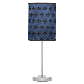 ROYAL1 BLACK MARBLE & BLUE STONE TABLE LAMP