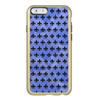 ROYAL1 BLACK MARBLE & BLUE WATERCOLOR INCIPIO FEATHER® SHINE iPhone 6 CASE