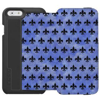 ROYAL1 BLACK MARBLE & BLUE WATERCOLOR INCIPIO WATSON™ iPhone 6 WALLET CASE