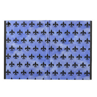 ROYAL1 BLACK MARBLE & BLUE WATERCOLOR iPad AIR CASE