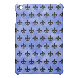 ROYAL1 BLACK MARBLE & BLUE WATERCOLOR iPad MINI COVER