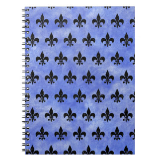 ROYAL1 BLACK MARBLE & BLUE WATERCOLOR NOTEBOOK