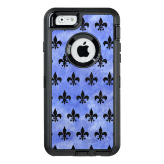 ROYAL1 BLACK MARBLE & BLUE WATERCOLOR OtterBox DEFENDER iPhone CASE