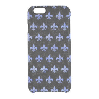 ROYAL1 BLACK MARBLE & BLUE WATERCOLOR (R) CLEAR iPhone 6/6S CASE