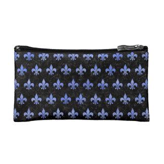 ROYAL1 BLACK MARBLE & BLUE WATERCOLOR (R) COSMETIC BAG