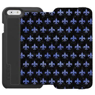 ROYAL1 BLACK MARBLE & BLUE WATERCOLOR (R) INCIPIO WATSON™ iPhone 6 WALLET CASE